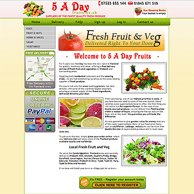 5 A Day Fruits - Local Delivery fresh fruit and veg, Wisbech, Cambs