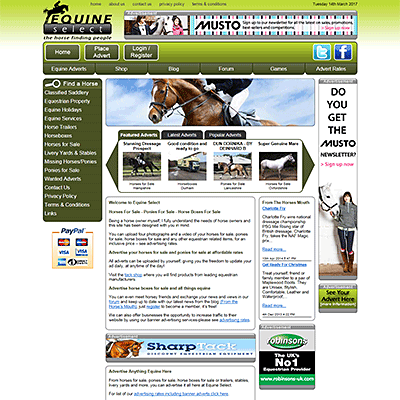 Equine Select -  Online Equestrian Store - Cambs