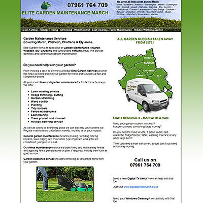 Garden Maintenance Services  Covering March, Wisbech, Chatteris & Ely