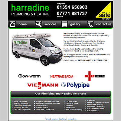 Harradine Plumbing & Heating, March