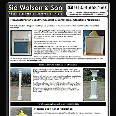 Sid Watson - Manufacturer of Quality Industrial & Commercial Glassfibre Mouldings